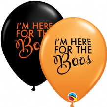 "Halloween Balloons - 11"" Simply Here for the Boos (25pcs)"